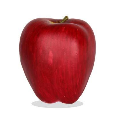 sexyrobot 8Pcs Artificial Lifelike Simulation Red Apple, Fake Fruit Decor Home House Kitchen Party Decoration, 3.3
