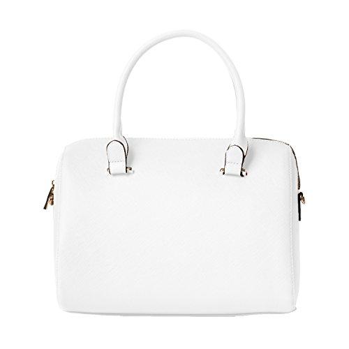 Handbag Republic Womens Vegan Leather Top Handle Bag Satchel Style With Matching Wallet For Ladies Girls