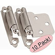 Cosmas 17139-SN Satin Nickel Hinge Variable Overlay [17139-SN], 10 Pair Pack