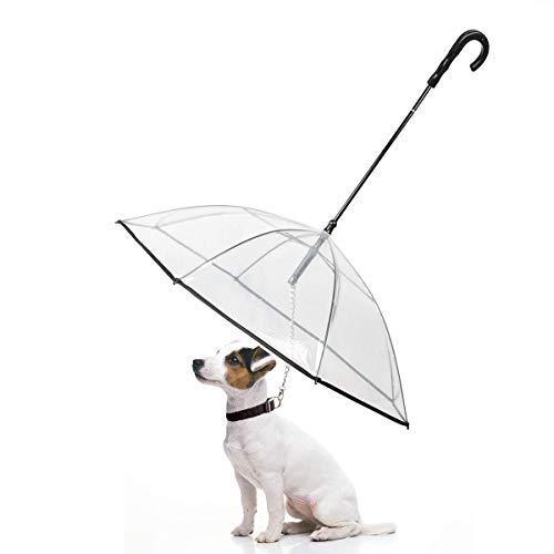 Enjoying Pet Umbrella Dog Umbrella with Leash for Small -