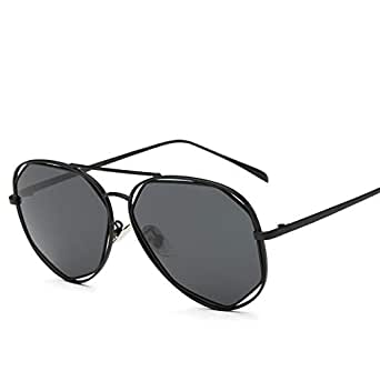 ROUPAI Women metal black Frame polarized sunglasses