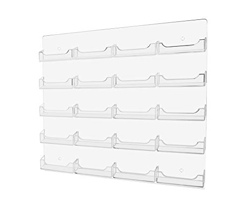 (Marketing Holders 20 Pocket Wall Mount Realtor Contact Business Card Display Storage & Organization Multi Pocket Gaming Cards Membership VIP Point Card Retail Rack Clear Pack of 1)