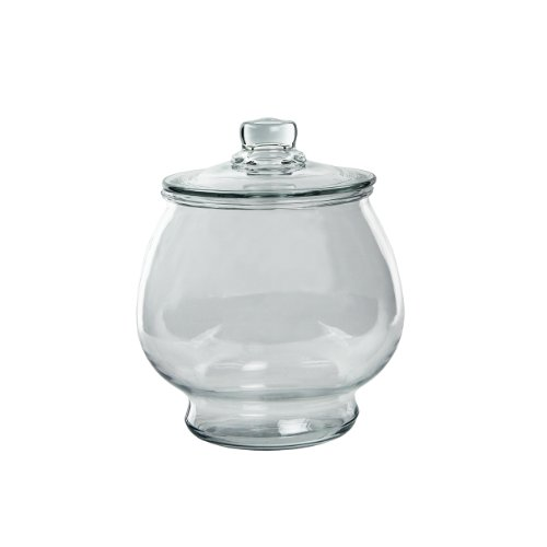 Anchor Hocking 1-Gallon Glass Cookie Jar with Cover, Large (Pack of 2) (Small Glass Cookie Jars With Lids)