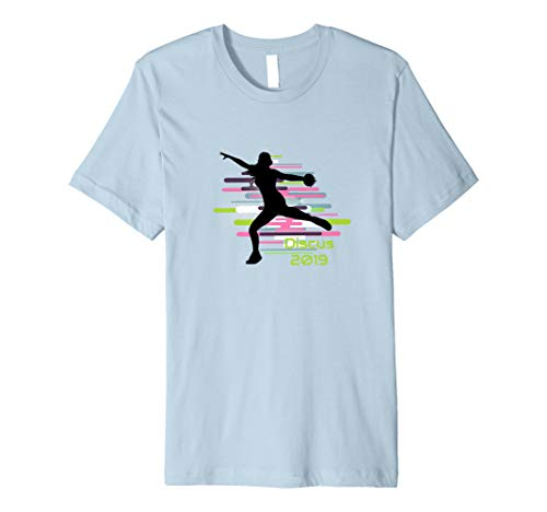Girl Throwing Discus 2019 Tshirt - Fun Track And Field Shirt