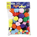 Chenille Kraft CK-811201 Company Pom-Poms, Assorted Sizes, Assorted Colors, Box Of 100