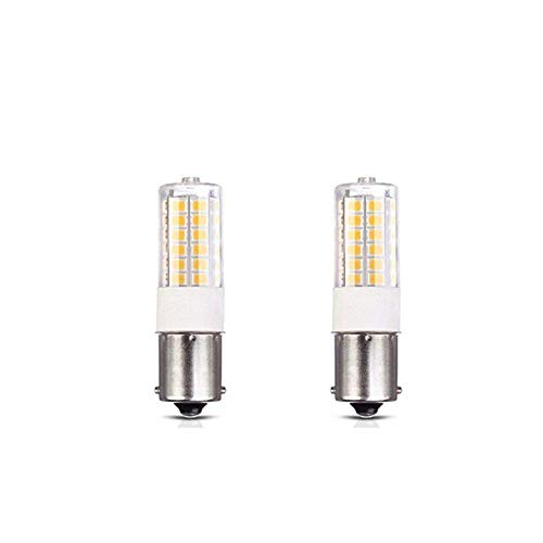 BA15S S8 SC Bayonet Single Contact Base LED Light Bulbs for Boat Marine Lights, RV Camper Trailer Automotive Light Bulbs, Works on 12V&24V, Cool White 2-Pack ()