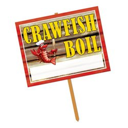 [Crawfish Boil Yard Sign Party Accessory (1 count)] (Crawfish Costumes)