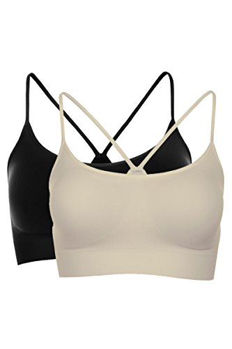 Kurve Women's Padded Bandeau Bra (Removable) -Made In USA- (Small/Medium, Black-Pebble) (Bra Made In Usa)
