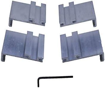 Tonno Pro 42-399 Utility Track Installation Bracket Kit for Tonno Fold or Hard Fold for 09-14 Ford