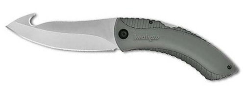 Kershaw 1090GH Northside Hunter Folding Knife w/Black Handle and Gut Hook, Outdoor Stuffs