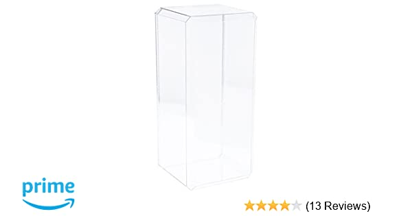 """With Beveled Edge 2 Clear Acrylic Display Cases 7/"""" x 6/"""" x 15.5/"""""""