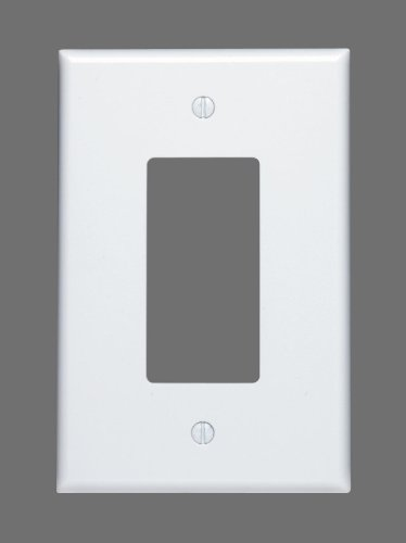 - Leviton 88601 1-Gang Decora/GFCI Device, Wallplate, Oversized, Thermoset, Device Mount, White