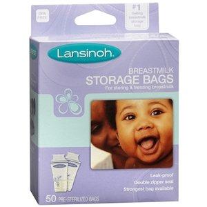 SPECIAL PACK OF 5 - LANSINOH MILK STORAGE BAGS 50EA