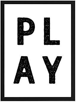 Papers Rain Lámina Infantil Play 30x40 para enmarcar. -Play- Se envía Desde España: Amazon.es: Hogar