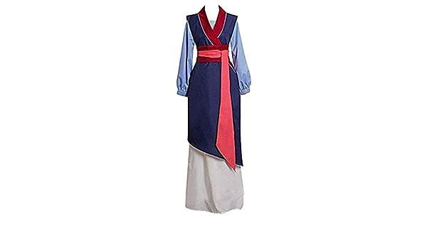 JMNyxgs Heroine Hua Mulan Disfraz de Princesa Vestido de película ...