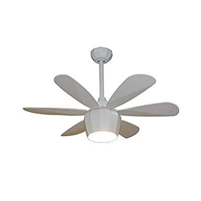 Fanimation Studio Collection Crease 36-in Matte White Downrod Mount Indoor Ceiling Fan with Light Kit and Remote Control (6-Blade)
