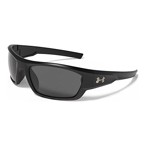 Under Armour Force Storm 8630086-010108 Polarized Rectangular Sunglasses, Satin Black/Black, 61 - Polarized Sunglasses Under Are Armour