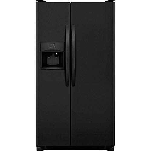 Frigidaire FFSS2615TE 36 Inch Side by Side Refrigerator with 25.5 cu. ft. Capacity, External Water Dispenser, Ice Maker, in Ebony (Certified Refurbished)