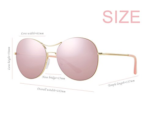 color Rose 5 Aviator Sunglass Elegear qwaZFvtnq