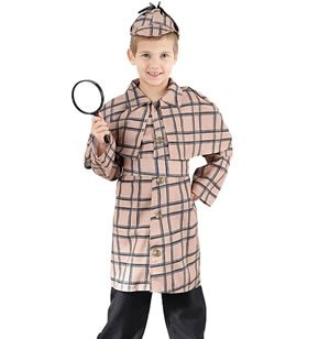 Dguisement Enfant Costume Sherlock Holmes Garon 3 -5 ans