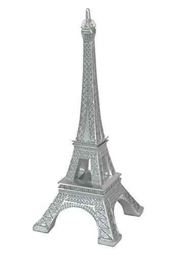 Benzara HRT-938952 Beautifully Silver Resin Eiffel Tower