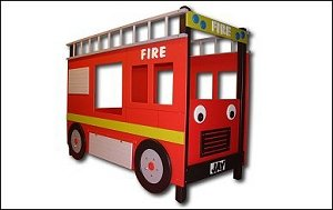 Childrens Bed Fire Engine Bunk Bed Amazon Co Uk Kitchen Home