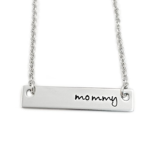 Mommy Bar Necklace – Hand Stamped Personalized Jewelry