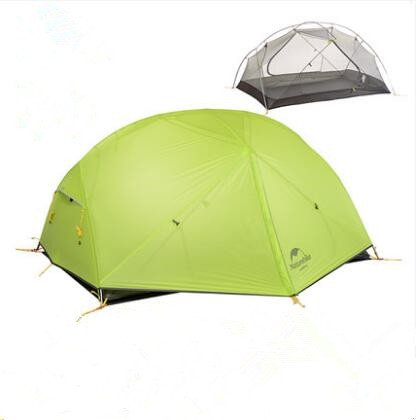 2 Personen Doppel Zelte Doppel Unwetter DREI Zeilen von Aluminium Zelte Outdoor Camping Bergsteigen Camping