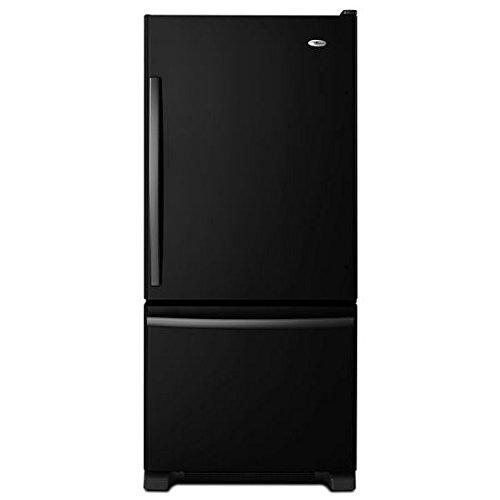 Amana ABB1924BRB 18.5 Cu. Ft. Black Bottom Freezer Refrigerator - Energy Star