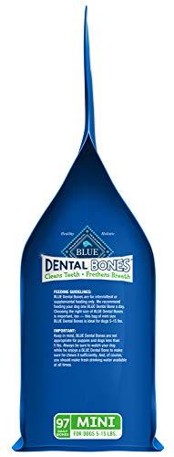 Blue Buffalo Dental Bones Natural Adult Dental Chew Dog Treat  Mini 27-oz bag Value Pack