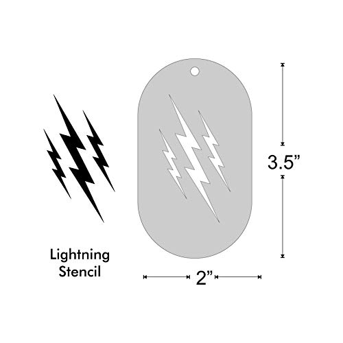 Stencil - Lightning Flash Bolts, Image Size 2.25x1.25 on 3.5x2 Border]()