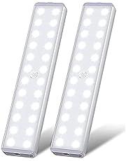 LED Closet Light, 24 LED Stick on Anywhere Motion Sensor Light Wireless Under Cabinet Night Light Bar Safe Lights for Wardrobe Stairs