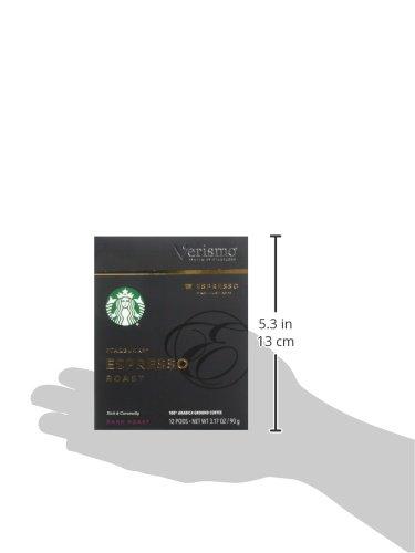 Starbucks Verismo Espresso Roast Espresso Single Serve Verismo Pods, Dark Roast, 6 boxes of 12 (72 total Verismo pods) by Starbucks (Image #6)
