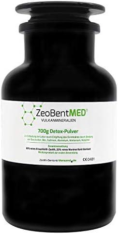 ZeoBent MED® Detox-Pulver 700g im Violettglas, CE zertifiziertes Medizinprodukt