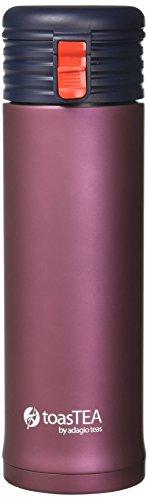 Adagio Teas toasTEA Double Wall Stainless Steel Insulated Travel Mug and Infuser, 17 oz, Blush