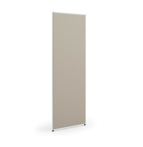 HON Verse Panel, 72'' H x 24'' W, Light Gray Finish, Gray Fabric by HON