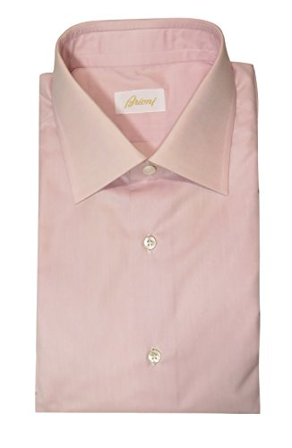 (Brioni Men's Light Pink Dress Shirt 40 / 15.75)