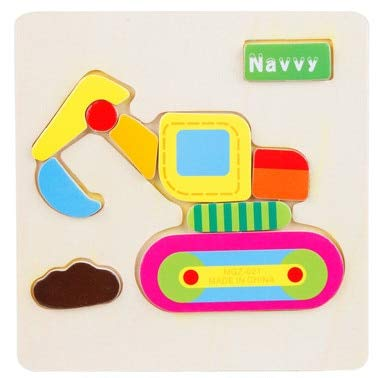 3D Puzzle - Kids Wood 3D Puzzle Wooden Puzzle Toys for Children Early Learning Toys Cartoon Animal Jigsaw Puzzle Eduactional Toy - Board Counting Educational Preschool Montessori Math Year