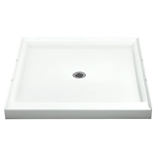 STERLING 72161100-0 36-Inch Shower Base Vikrell Center Drain, White