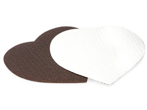 """HEART CANDY PADS 8-1/8 x 8-3/8""""CHOCOLATE 3 Ply (5 unit, 20 pack per unit.)"""
