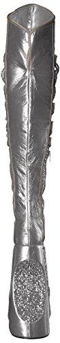 Gltr Crinkle Patent Women's Boot Slv s Fabu3035 Pleaser g 8ZUfYZB