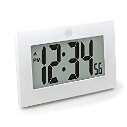 Marathon CL030064WH 9 Large Digital Frame Clock with 3.25 Digits - Batteries Included (White)