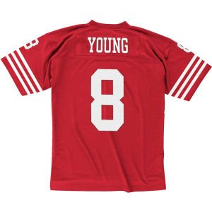 Steve Young San Francisco 49ers Mitchell & Ness Throwback Premier Red Jersey