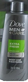 Dove Men + Care Extra Fresh Body and Face Wash 3 Oz