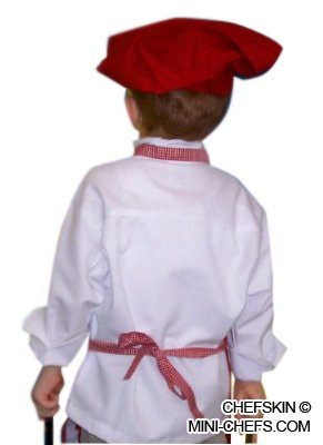 Chefskin Kids Red Mushroom Puffy Chef Hat