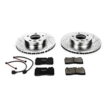 Power Stop K4656 Front Z23 Evolution Brake Kit with Drilled/Slotted Rotors and Ceramic Brake Pads