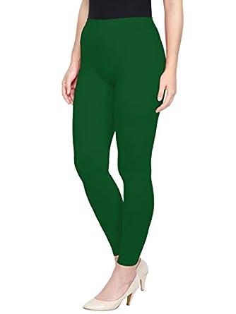 Saundarya Women's Ankle Length Leggings Soft Stretchable Cotton Spandex Fabric Slim Fit
