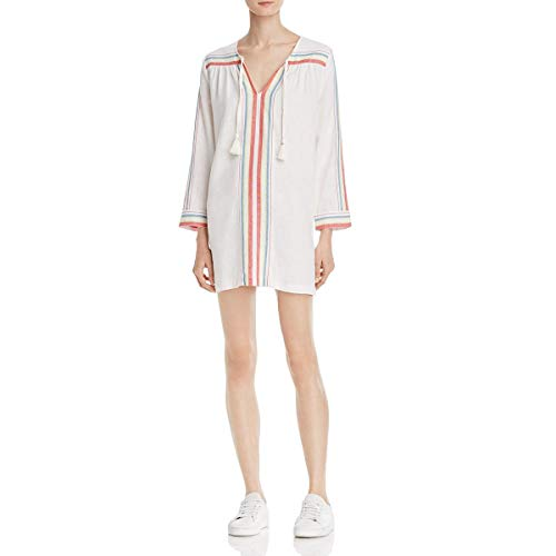 Joie Womens Daria Casual Mini Tunic Dress White XXS
