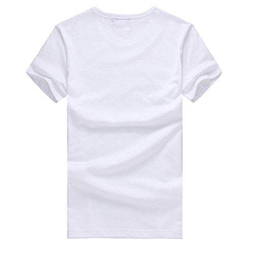 redondo para cuello Adeshop hombre Camiseta de impresi de camisetas moda TqYwBwRtA