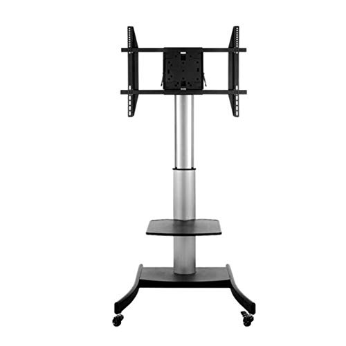 (Exing Mobile TV Cart, LCD LED Plasma Flat Panel Stand Mount Adjustable Height Lockable Wheels Mobile Office Home Function Rack Universal Fits 40